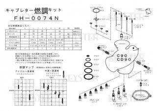 C90/CD90用キャブレター燃調キット