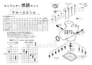 CB96/CB160用キャブレター燃調キット