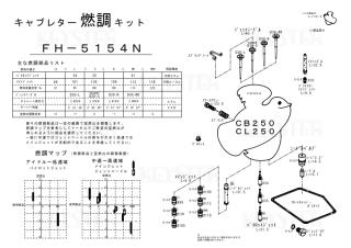 CB250/CL250用キャブレター燃調キット