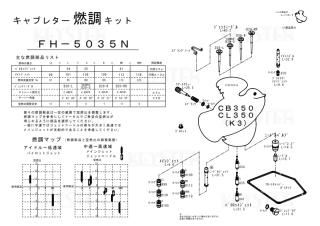 CB350/CL350(K3)用キャブレター燃調キット