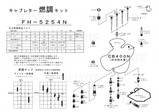 HAWKIII/CB400N用キャブレター燃調キット