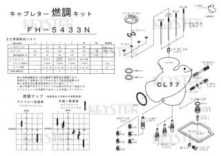 CL77用キャブレター燃調キット