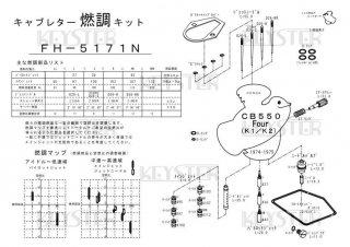 CB550Four(K1-K2)用キャブレター燃調キット