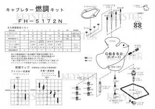 CB550Four-II用キャブレター燃調キット