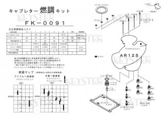 AR125用キャブレター燃調キット