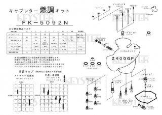 Z400GP用キャブレター燃調キット