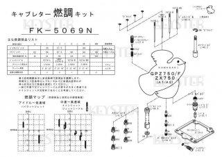 GPz750F/ZX750(A1-A2)用キャブレター燃調キット