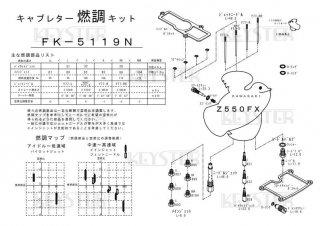 Z550FX用キャブレター燃調キット