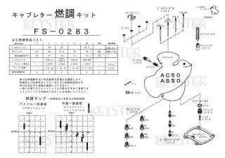AC50/AS50用キャブレター燃調キット