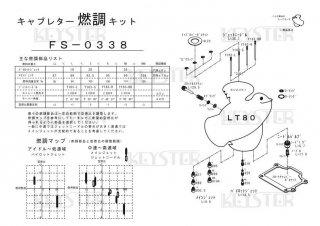 LT80用キャブレター燃調キット