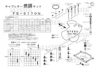 GT550(B4-B5)用キャブレター燃調キット