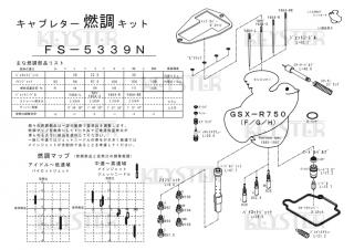 GSX-R750 (F/G/H), Overseas spec.用キャブレター燃調キット