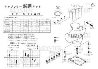 RZ250R(29L)用キャブレター燃調キット