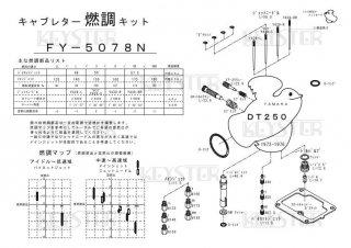 DT250用キャブレター燃調キット