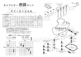 SDR200(2TV)用キャブレター燃調キット
