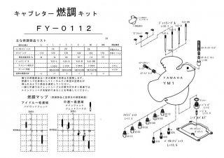 YM1用キャブレター燃調キット