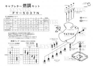 TX750用キャブレター燃調キット