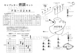 AC50用キャブレター燃調キット