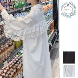 ブラウス 韓国 レディース 夏 シャツブラウス ロング レディース 韓国ファッション レディース 大きいサイズ アンバランス丈