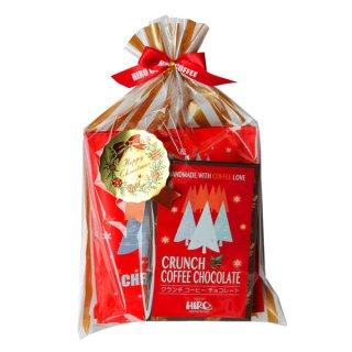 【クリスマス限定】クリスマスブレンド ドリップコーヒー3個・クランチコーヒーチョコ