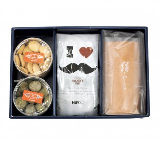 【父の日特集】絹ロール・選べるクッキー2種類と限定ファザーズズブレンドセット(送料無料)