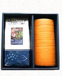 北海道産生クリーム「絹ロール」と選べるスペシャルティコーヒー豆300gギフトセット(送料無料)