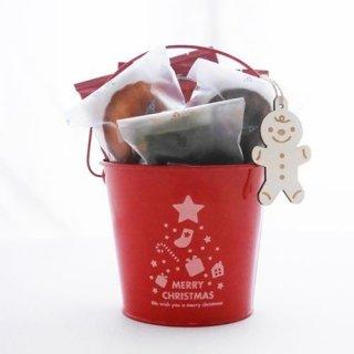 【クリスマス限定】クリスマスブレンド ドリップコーヒー5個・焼き菓子5個セット(クリスマスバケツ入り)