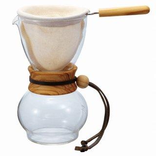 35%OFF特価【コーヒー器具】ハリオ ドリップポット・ウッドネック 1-2杯用