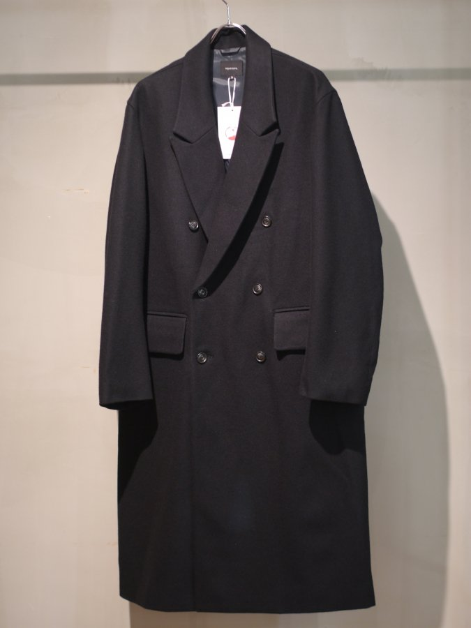 <img class='new_mark_img1' src='https://img.shop-pro.jp/img/new/icons5.gif' style='border:none;display:inline;margin:0px;padding:0px;width:auto;' />Double chester coat - Melton / Black
