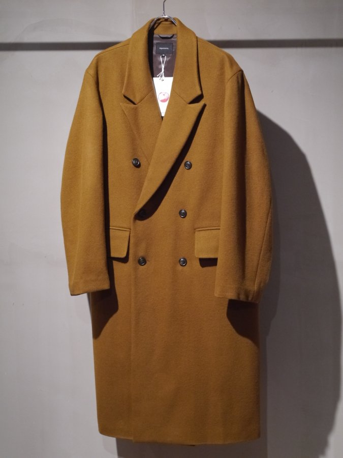 <img class='new_mark_img1' src='https://img.shop-pro.jp/img/new/icons5.gif' style='border:none;display:inline;margin:0px;padding:0px;width:auto;' />Double chester coat - Melton / Camel