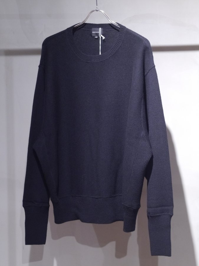 <img class='new_mark_img1' src='https://img.shop-pro.jp/img/new/icons5.gif' style='border:none;display:inline;margin:0px;padding:0px;width:auto;' />Crew neck knit sweater-Lamb's wool / BLACK