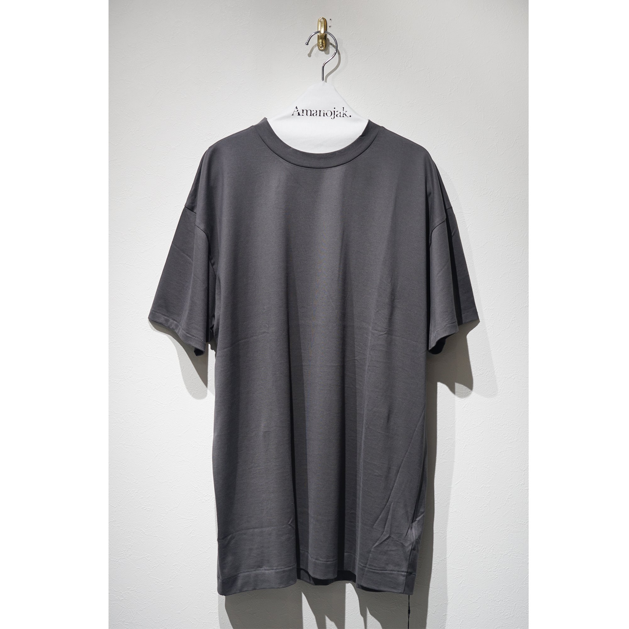 ATON-OVER SIZED T-SHIRTS CHARCOAL