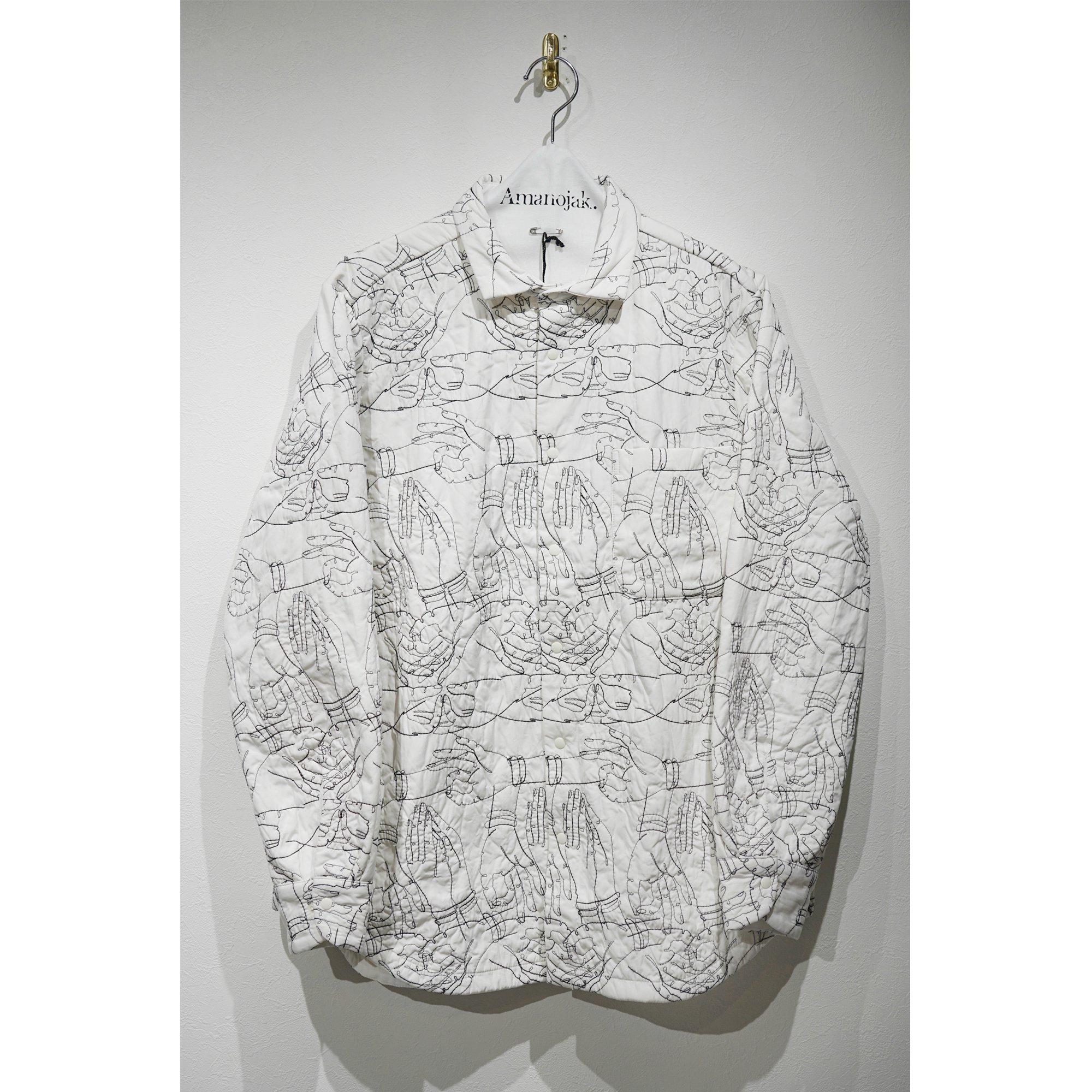 BRU NA BOINNE-プレイヤシャツ WHITE