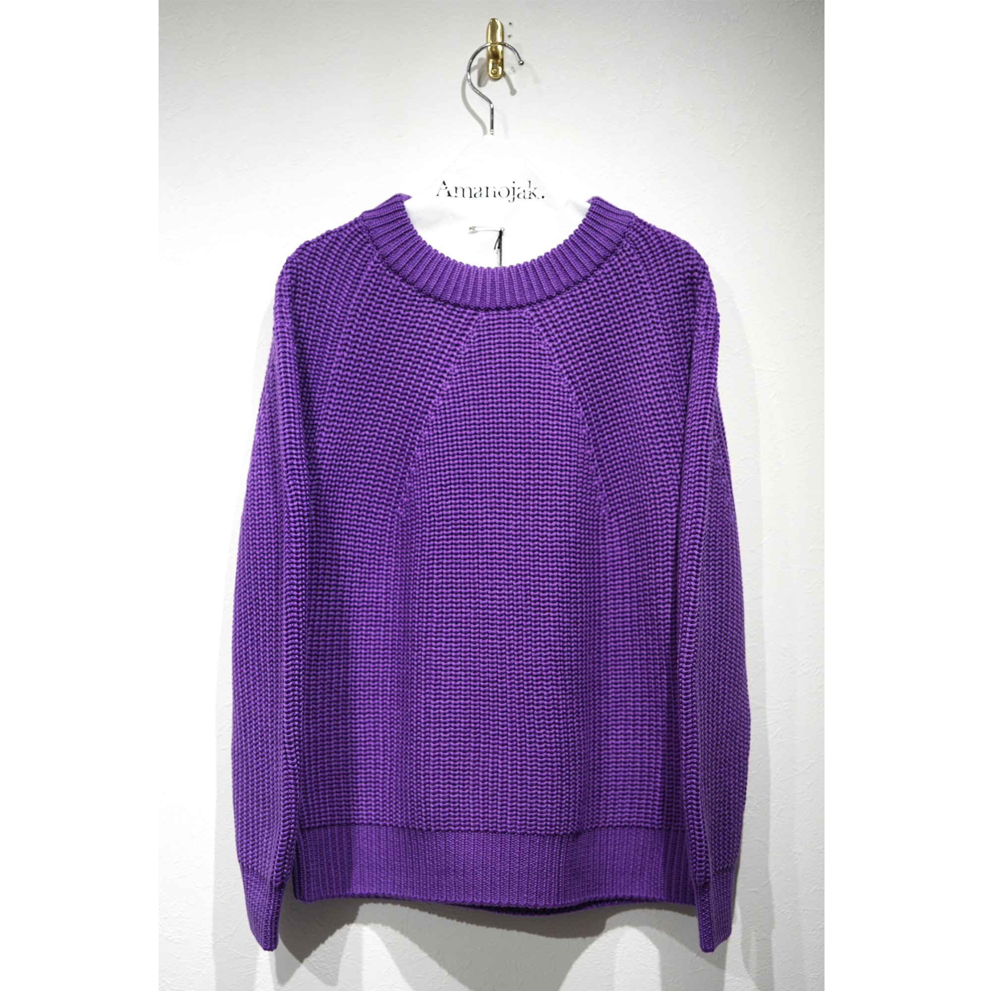 BATONER-SIGNATURE CREW NECK(WOMENS) PURPLE