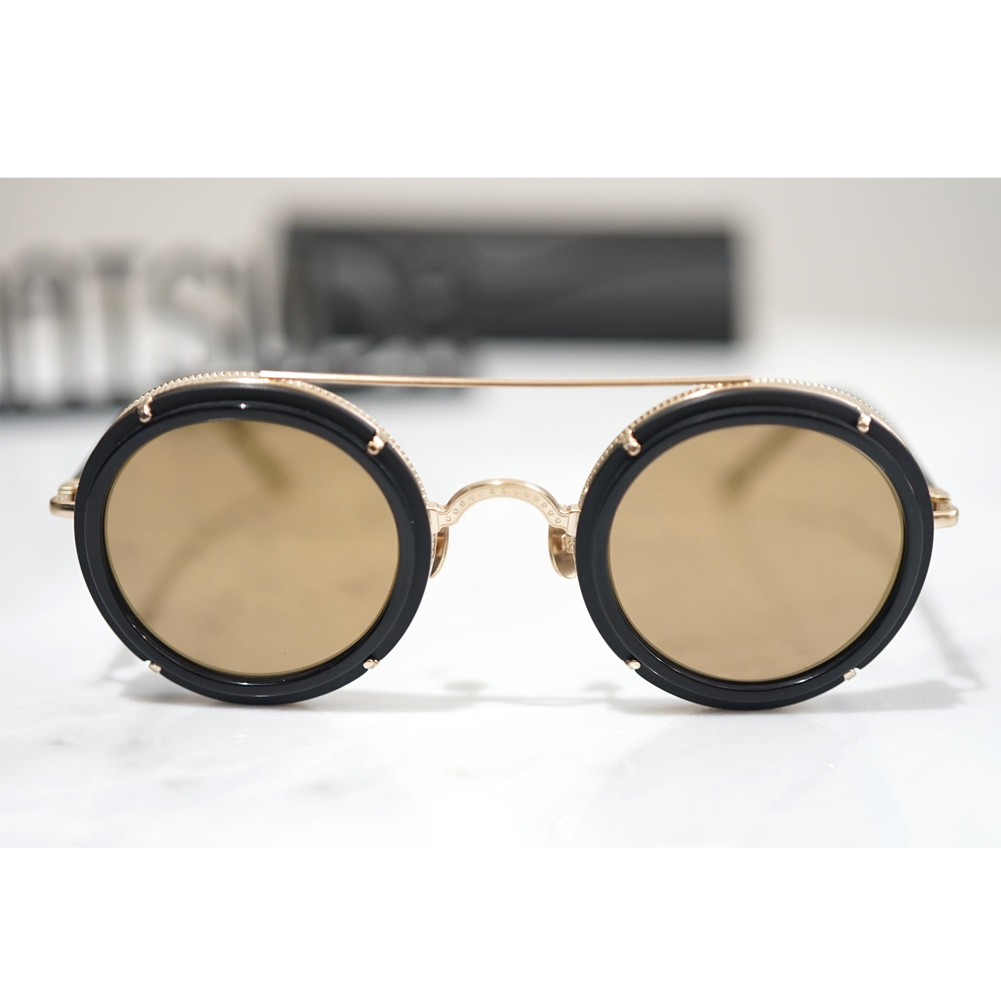 MATSUDA EYEWEAR-M3080 DOUBLE BRIDGE SUNGLASSES