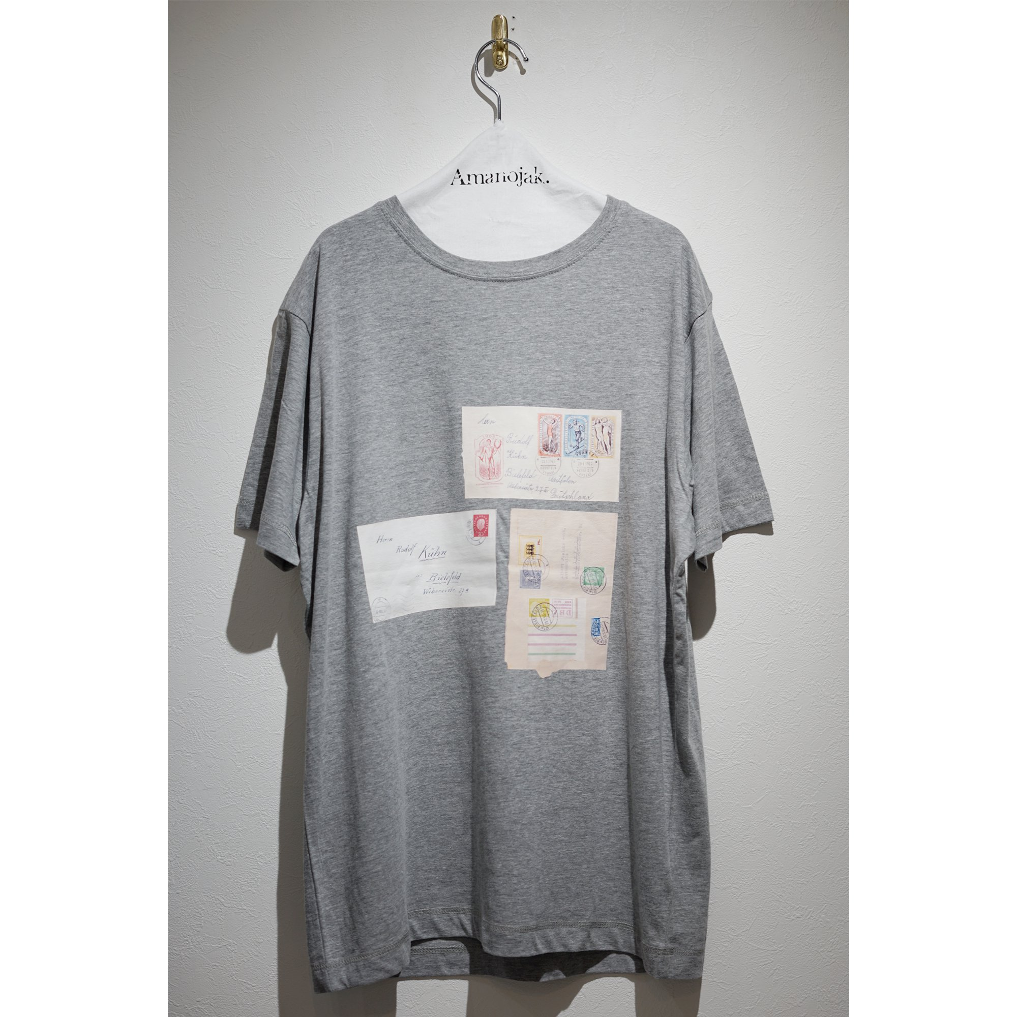 FIRST DAY OF ISSUE by FRANK LEDER-COTTON TEE TRIPLE POST CARDS GRAY