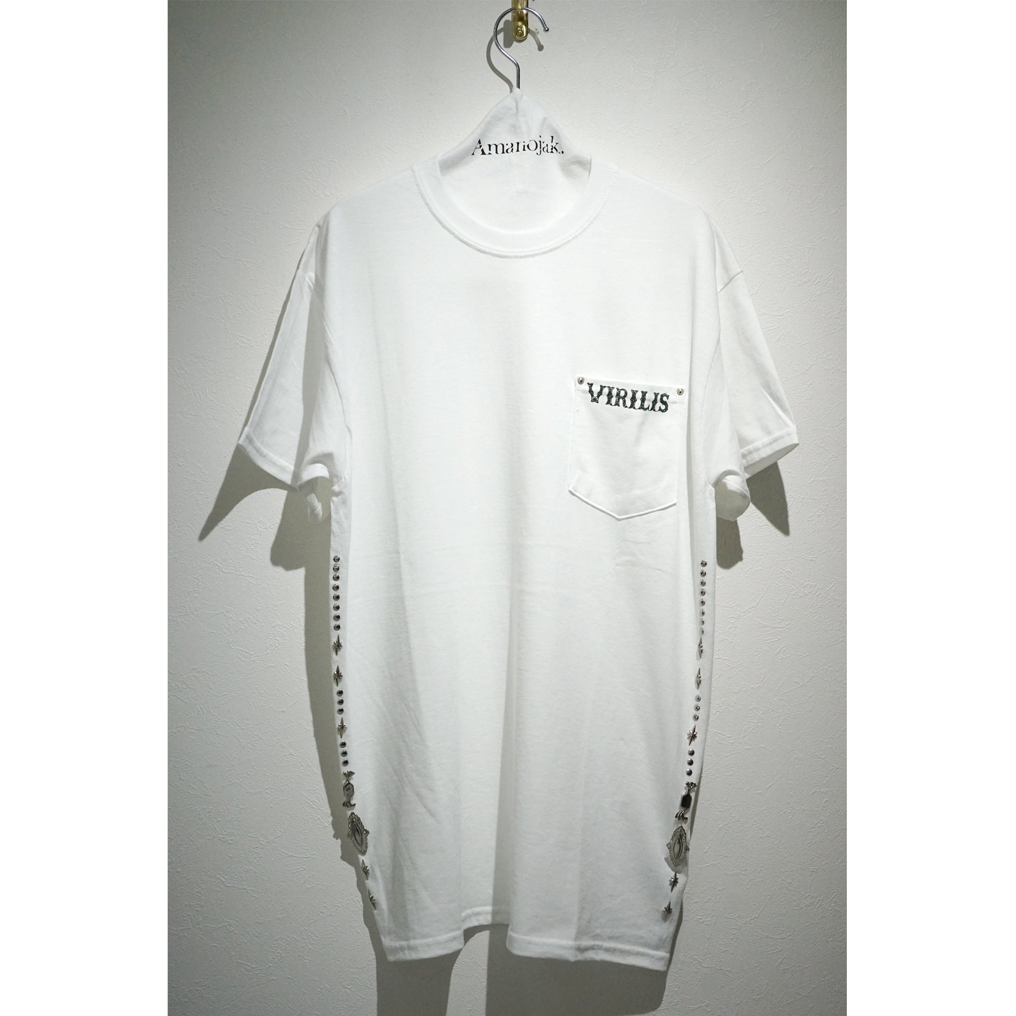 TOGA VIRILLIS STUDS POCKET T-SHIRTS WHITE