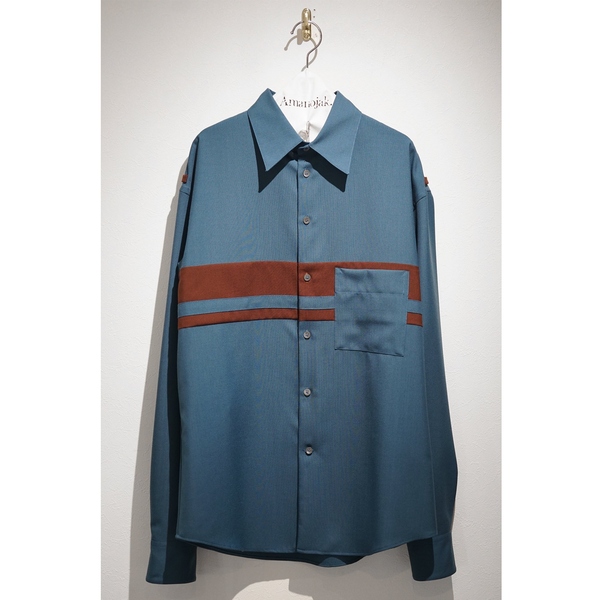 MARNI-WOOSTED WOOL COLOR BLOCK SHIRTS<br>(在庫なし)