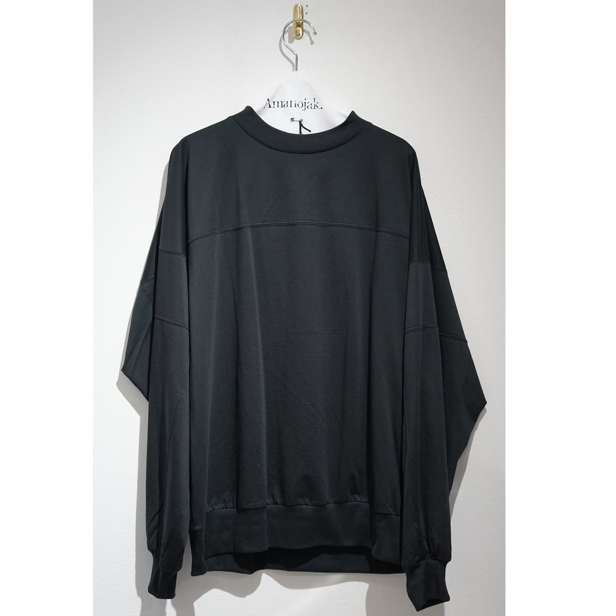 08sircus-SUPIMA COTTON JERSEY SWITCHING TOP BLACK