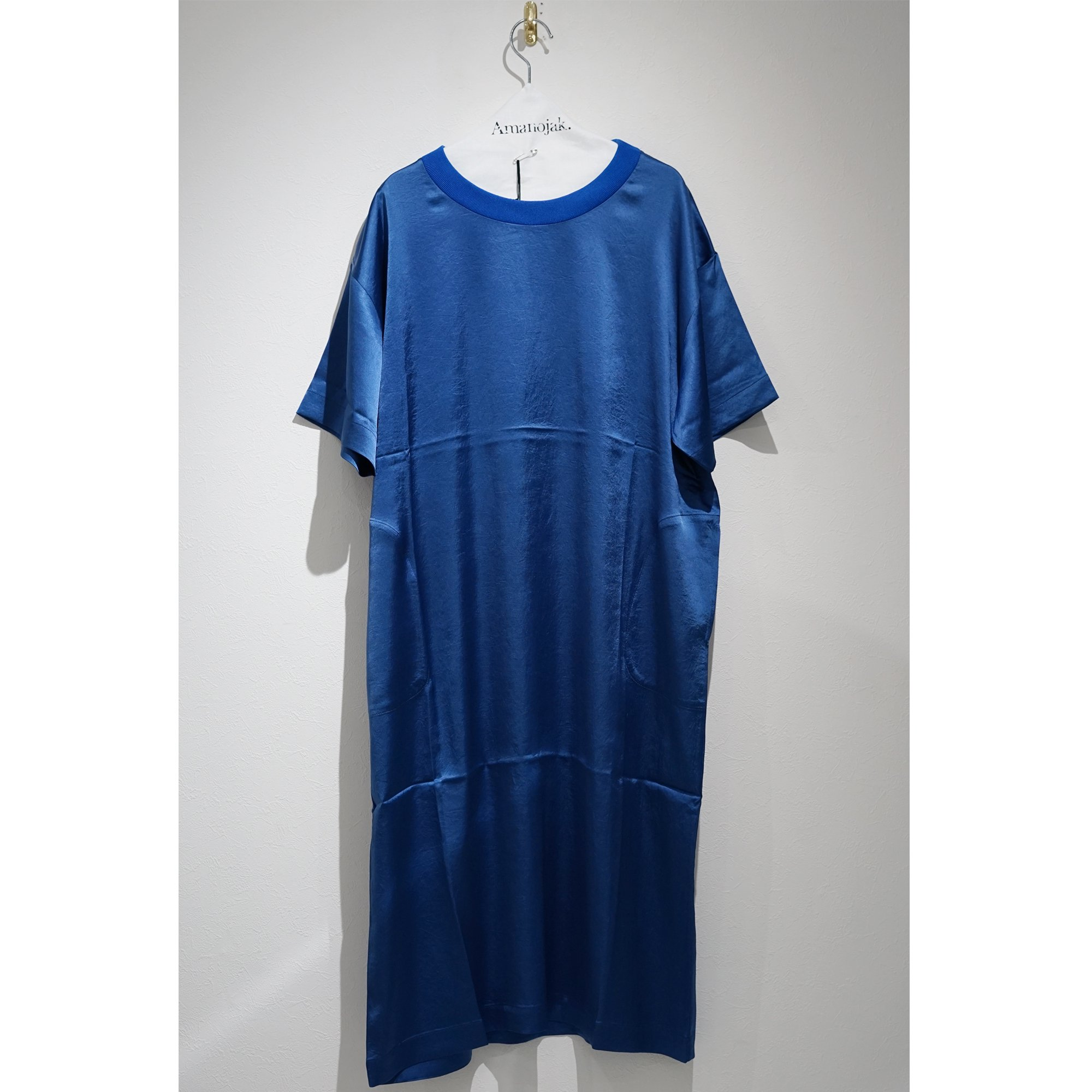 08sircus-VINTAGE WASHER SATIN DRESS ROYAL BLUE
