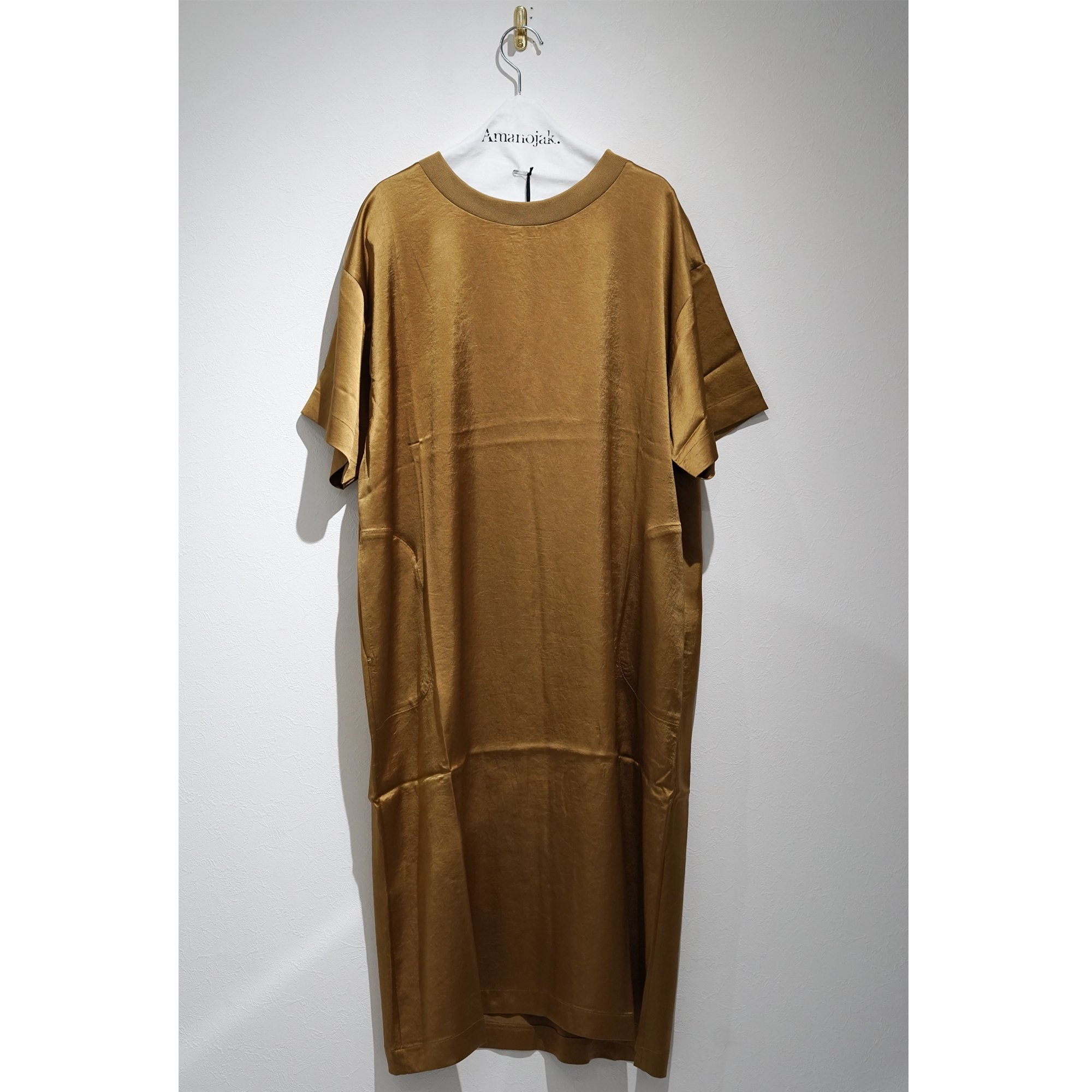 08sircus-VINTAGE WASHER SATIN DRESS GOLDEN ROD