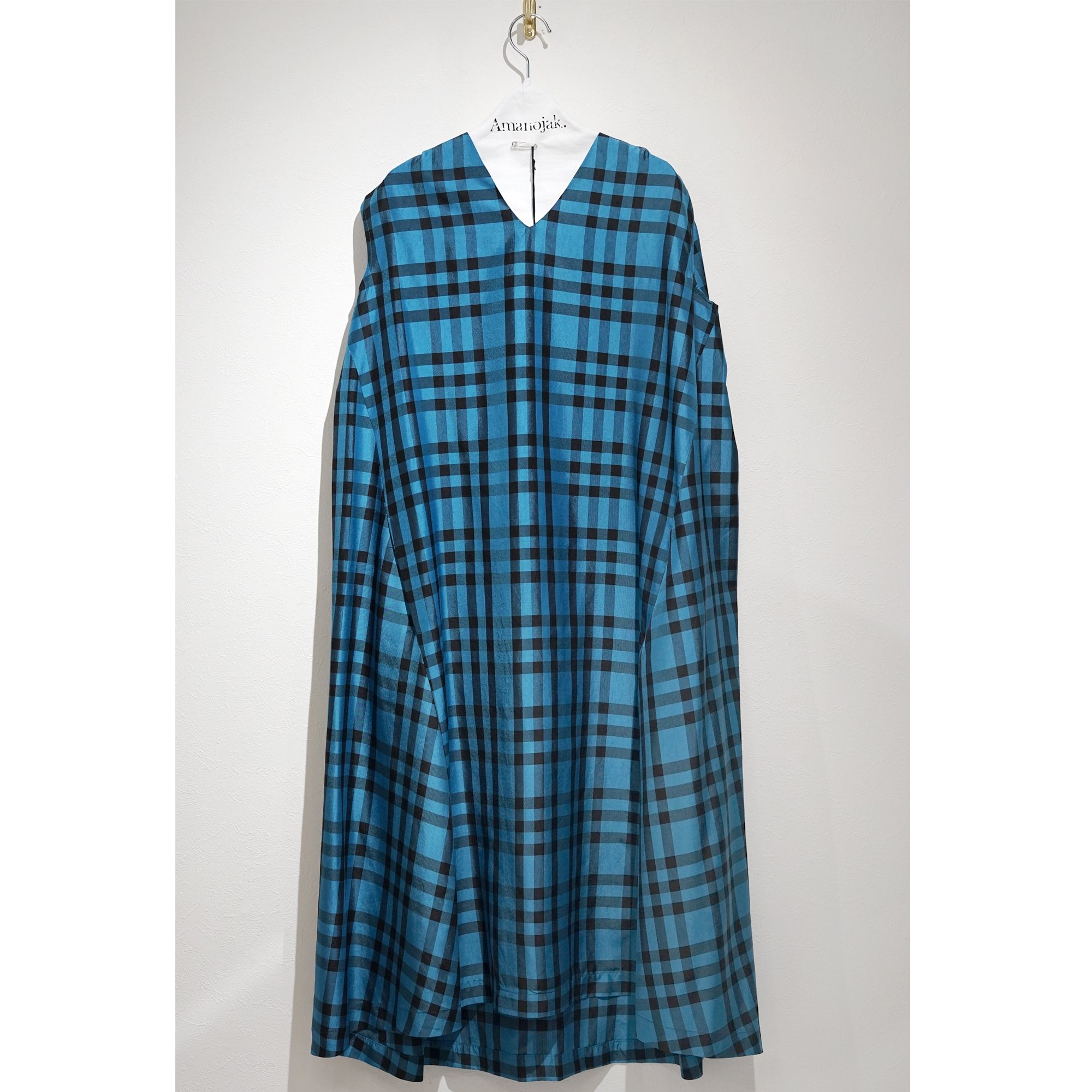 08sircus-CHAMBRAY CHECK TRAPEZE DRESS