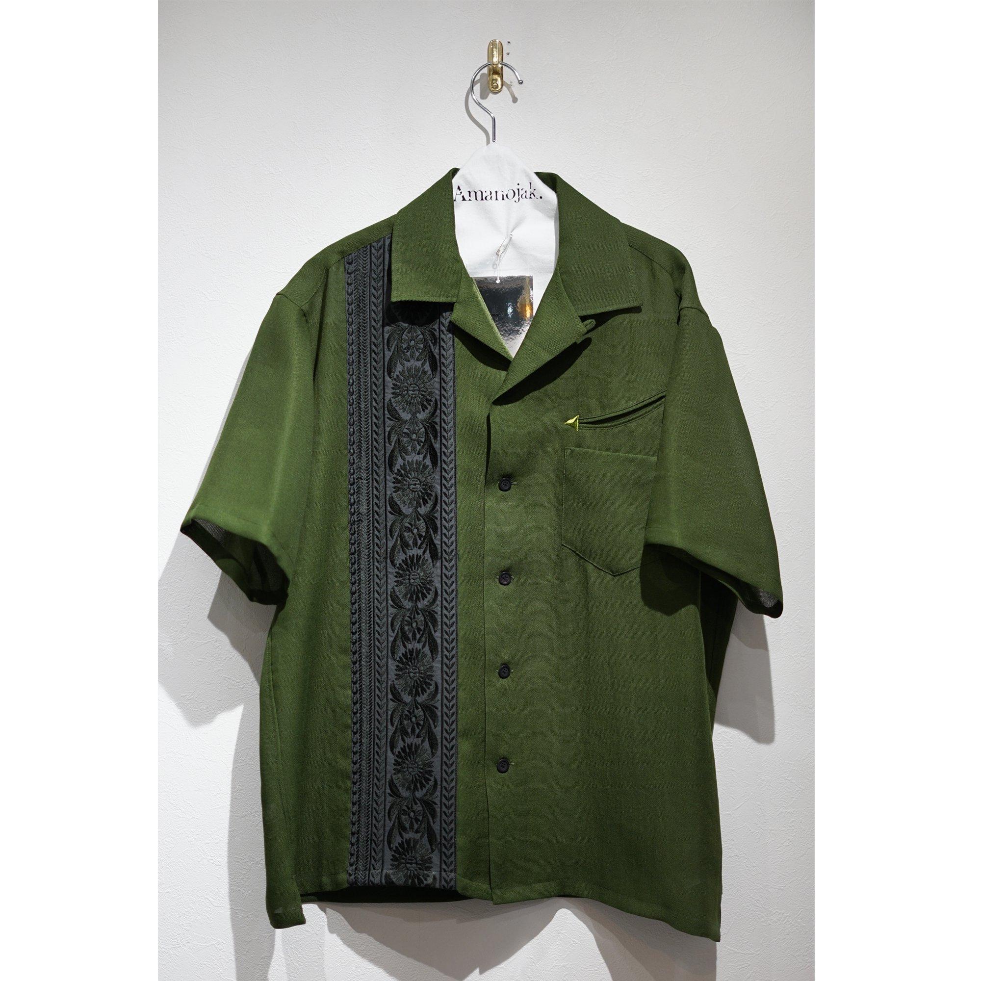 TOGA VIRILLIS-ALDENTE MESH SHIRTS S/S GREEN