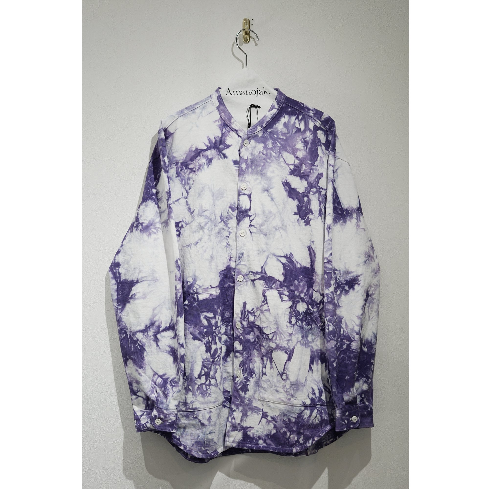 CURLY-BLENDER LS SHIRTS CAGO DYE PURPLE