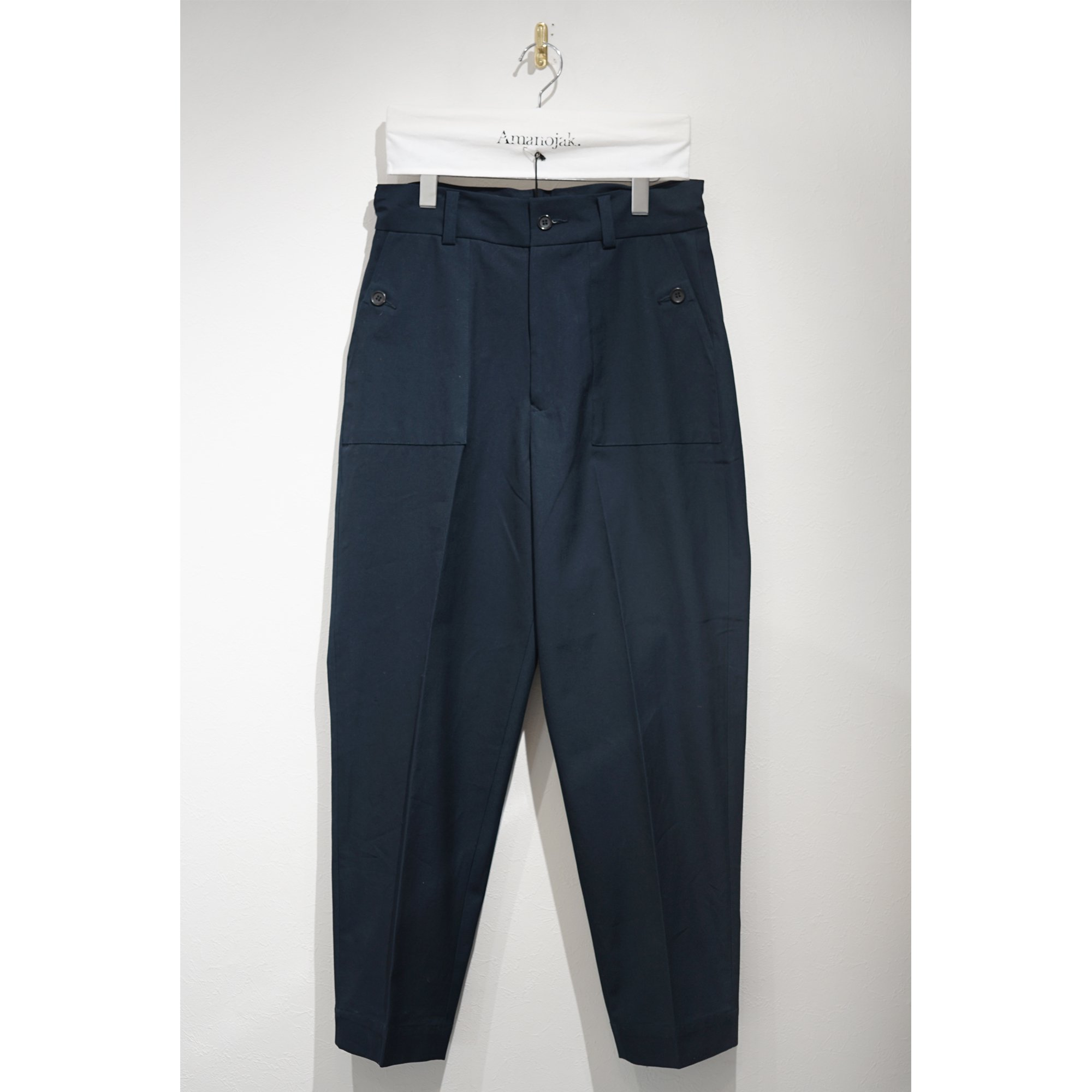 ATHA-COTTON BAKER PANTS NAVY