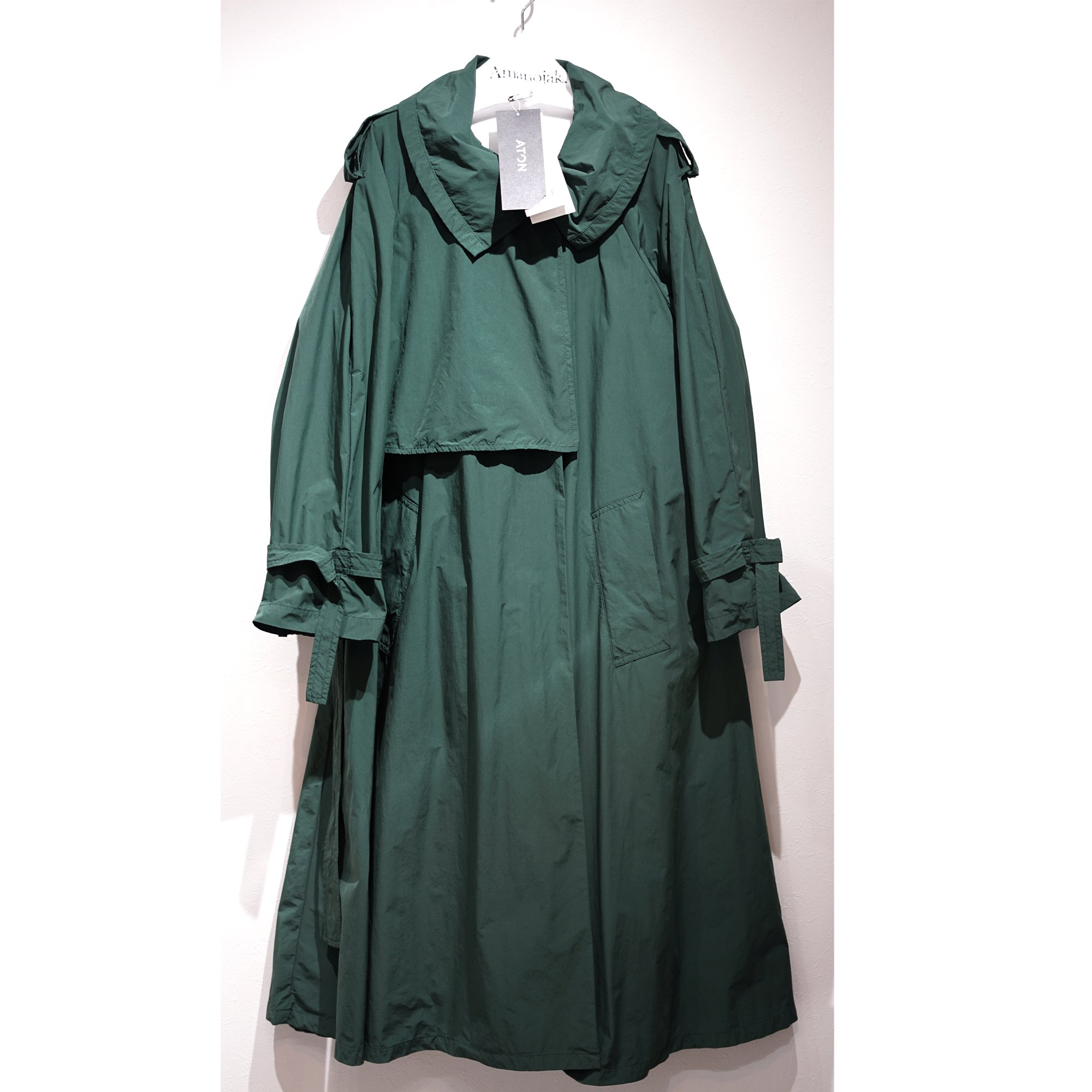 ATON-AIR VENTILE FLARE TRENCH COAT