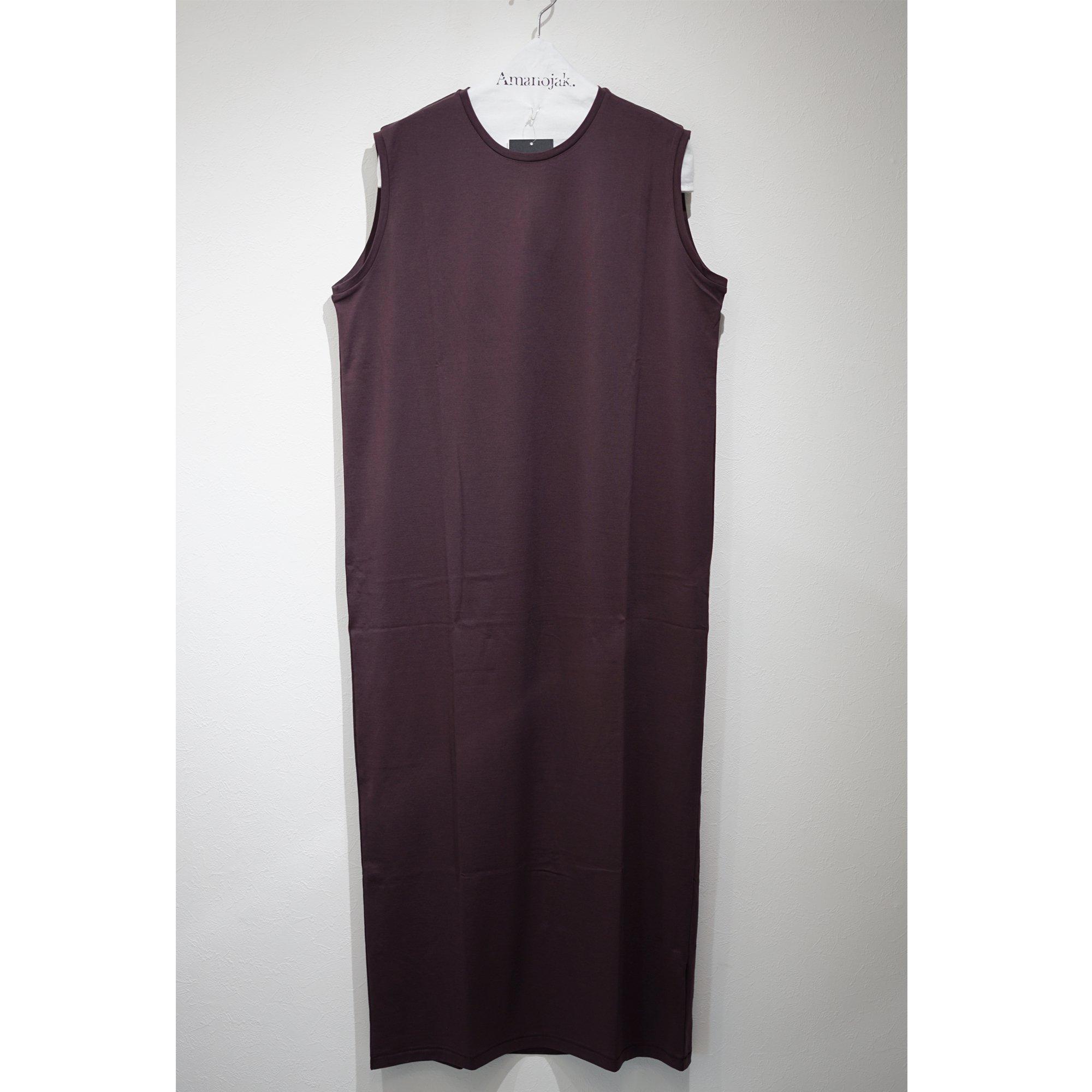 ATON-TANK TOP DRESS BURGUNDY
