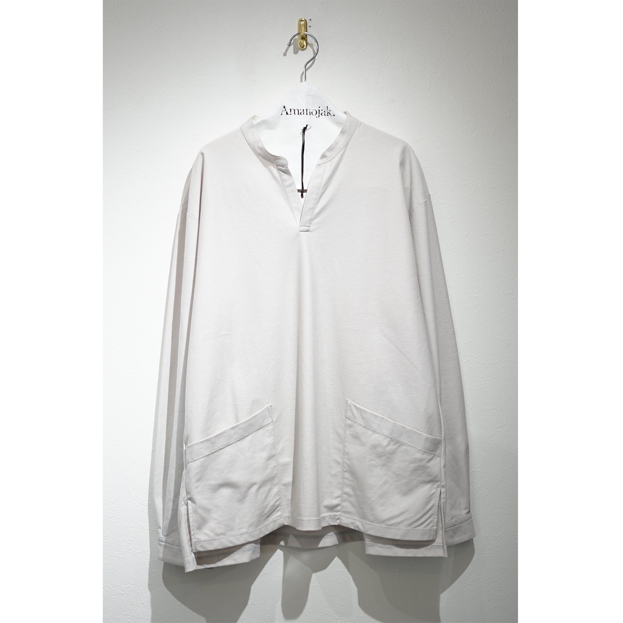 CURLY-NOMADIC LS SMOCK SHIRT LIGHT GRAY