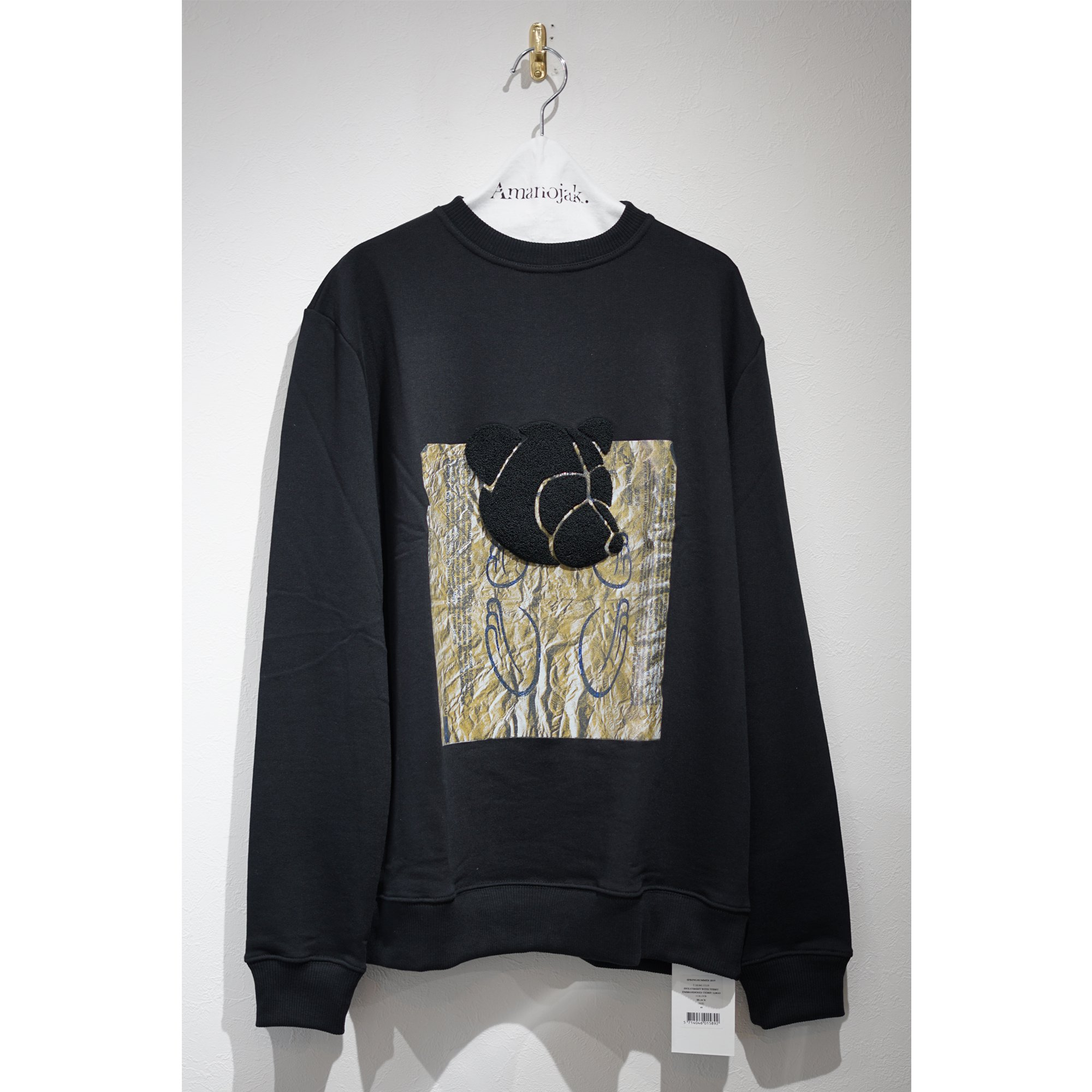 TONSURE-CREWNECK SWEATSHIRT with Steiff's TEDDY EMBROIDERED