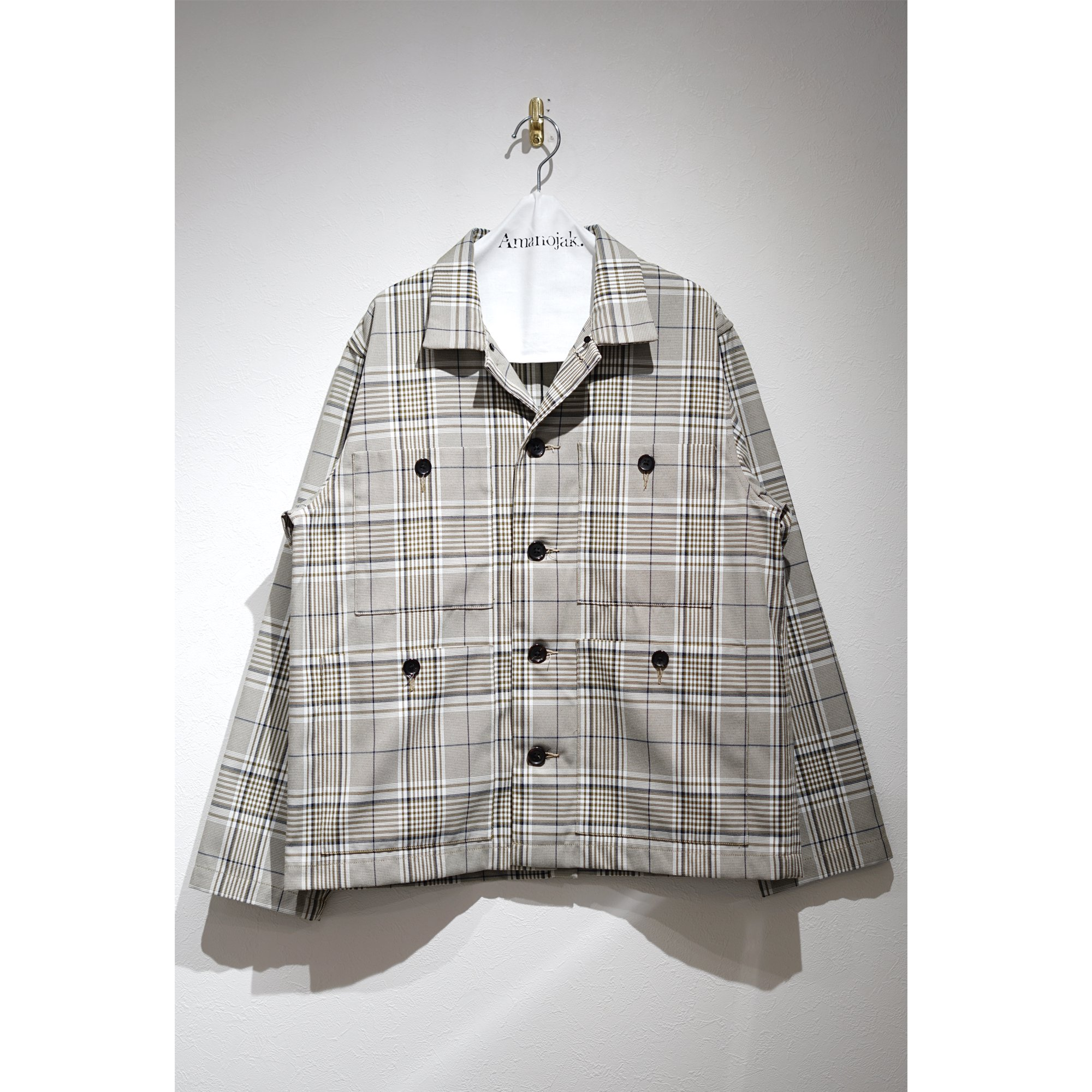 ATHA-PL/CO HIGH DENSITY FIELD JACKET GREEN CHECK